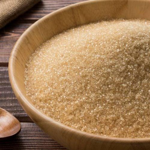 pote de açúcar mascavo