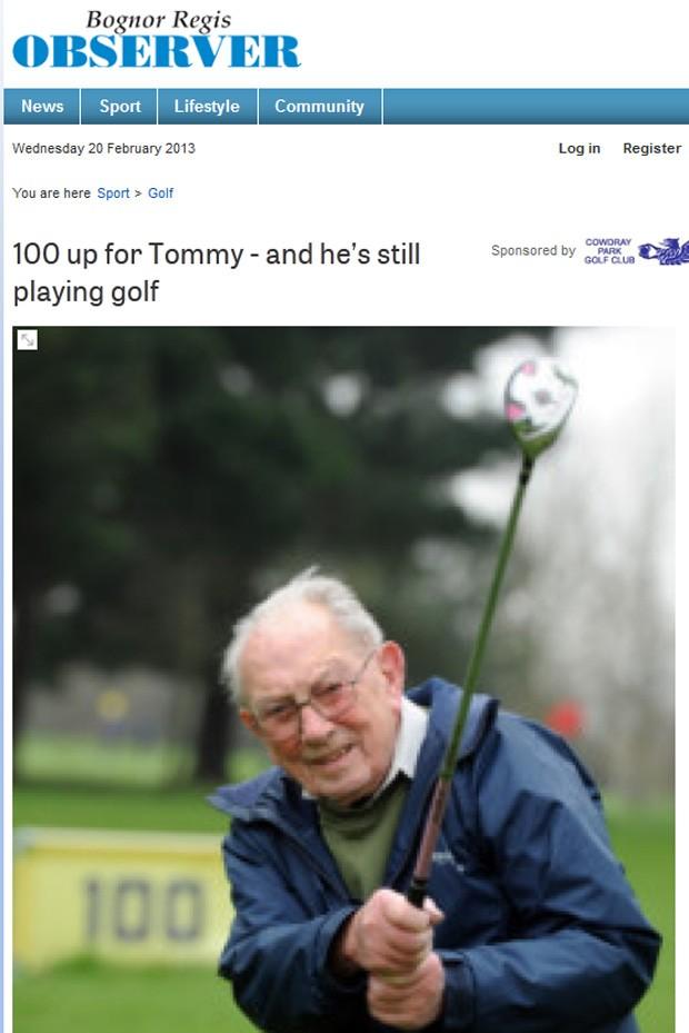 golfista de 100 anos