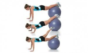 flexão na bola
