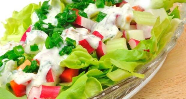 Salada com molho