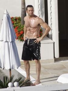 Hugh Jackman- barriga tanquinho
