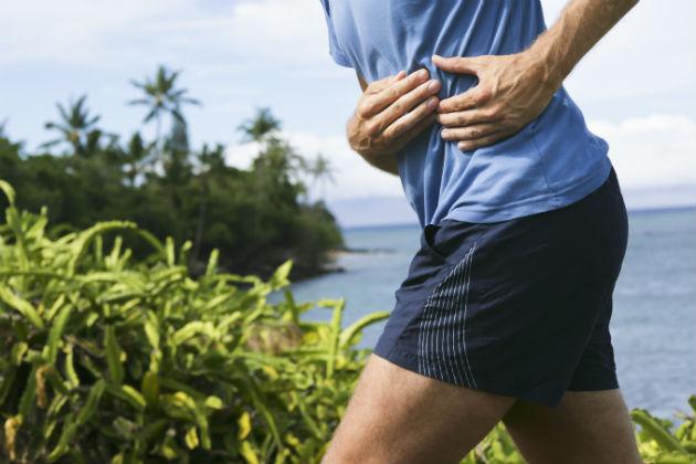 Dor abdominal correndo