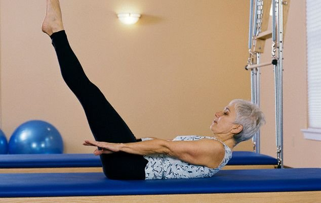 Woman Practicing Pilates