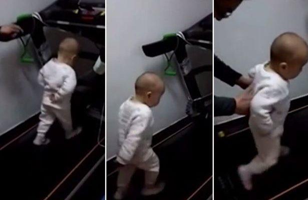 Bebê na esteira