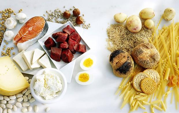 Carboidratos e proteínas separados