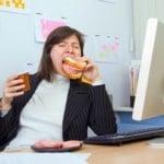 Comendo no trabalho