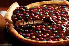 pizza de M&M's