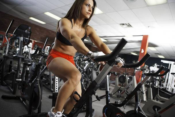 Bicicleta na academia