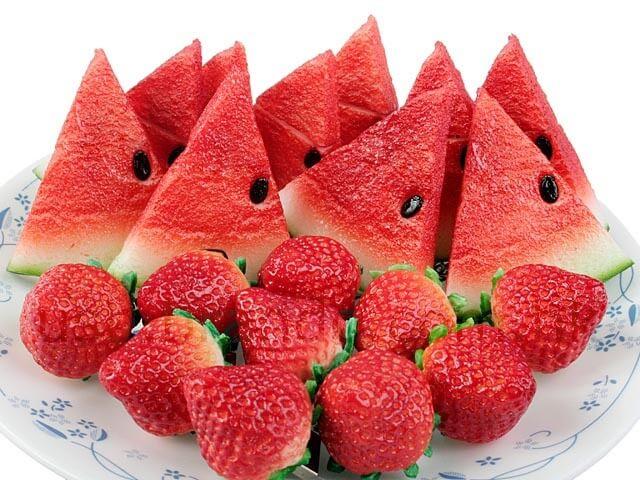 Morango e melancia