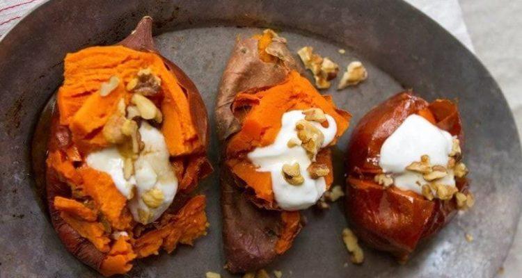 Batata doce no café da manhã