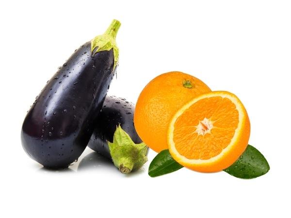 Berinjela e laranja