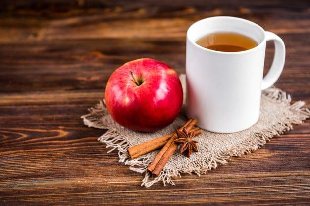 chá de canela com maçã