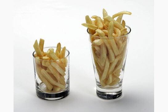 porção batatas fritas