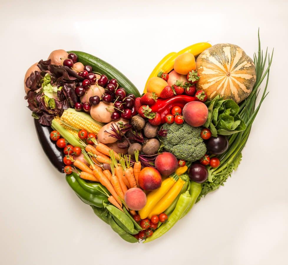 Coração de comidas
