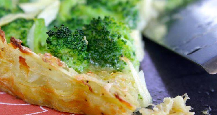 Torta de brócolis light