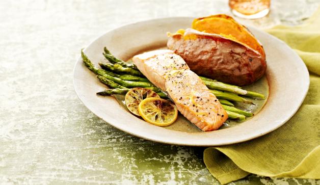 Prato da dieta nórdica