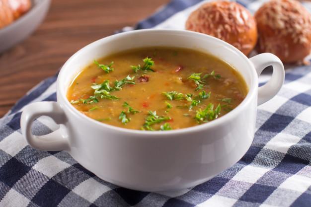 sopa feita com gengibre