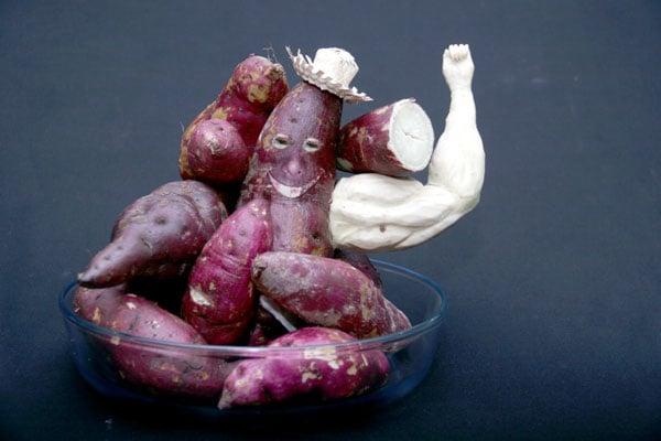 Batata-doce e musculação