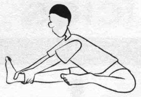 alongamento segurando tornozelo
