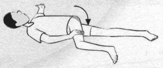 alongamento rotação de quadril