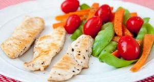 Peito de frango e salada