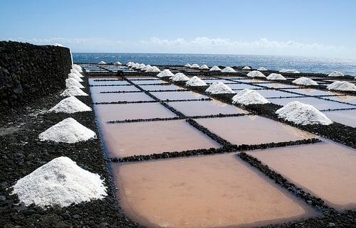 Sal marinho retirado das salinas
