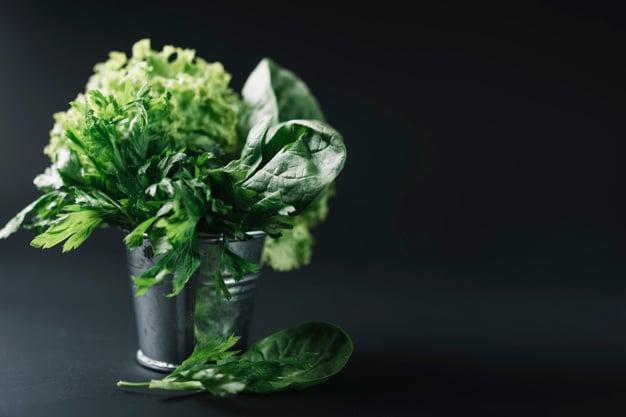 vegetais verde-escuros