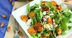 Salada com batata doce