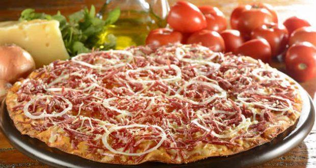 Pizza de carne seca light
