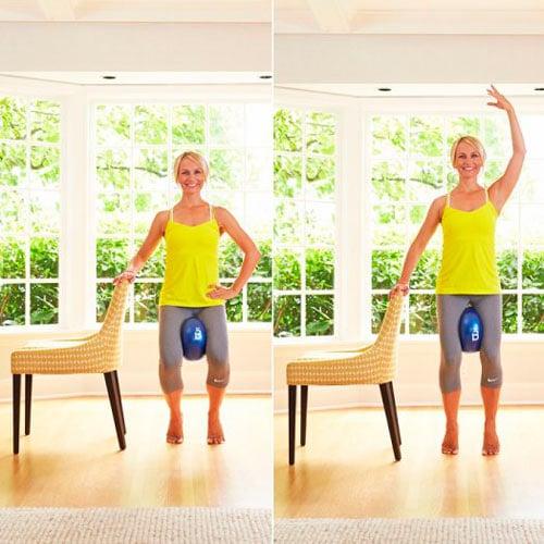 Exercício com bola para a parte interna da coxa