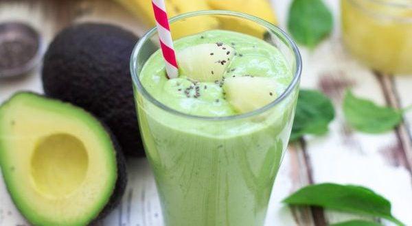 Shake proteico de abacate