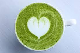 chá verde coração