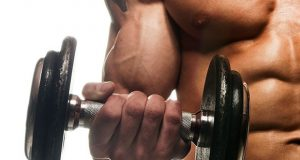 Malhando bíceps