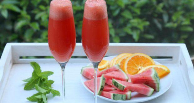 Suco melancia e laranja