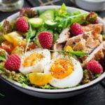 refeição saudável dieta poucas calorias