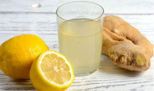 Suco de limão e gengibre