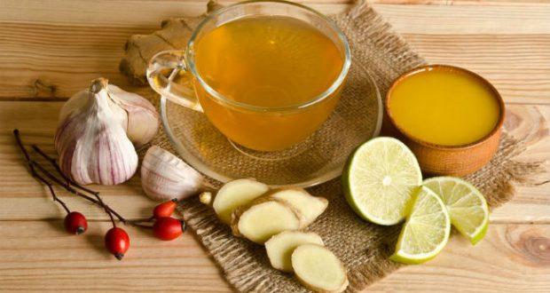 Chá de limão com alho