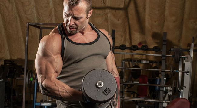 Exercício de bíceps