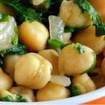 salada de bacalhau grão de bico
