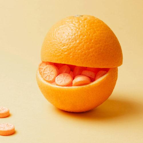 vitamina c dentro da laranja