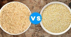 Arroz ou quinoa