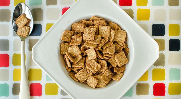 Tigela quadrada de cereal