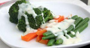 Vegetais com molho branco