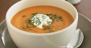 Sopa de gengibre e cenoura