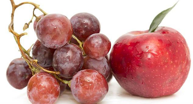Uva e maçã