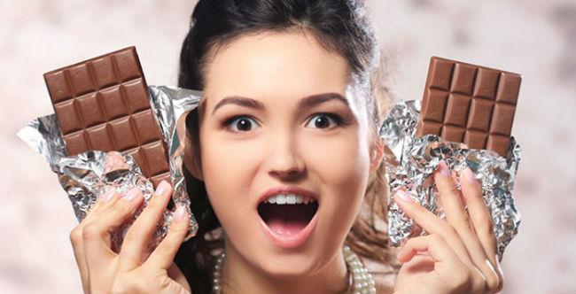 Comer muito chocolate