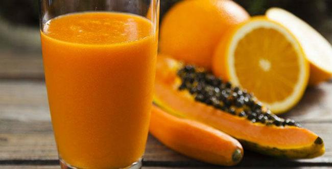 Suco de mamão com laranja