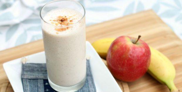 Vitamina de banana e maçã