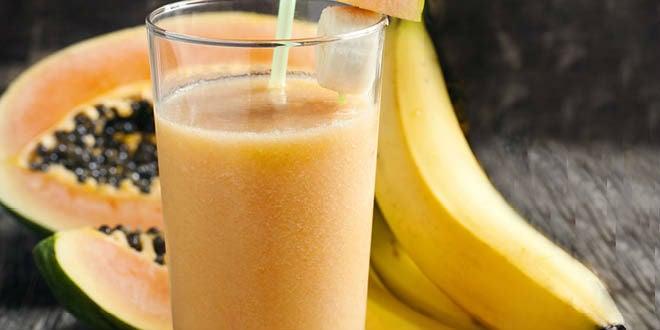 Vitamina de mamão com banana