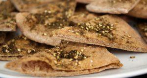 Pão árabe integral